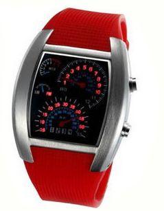 Binárne Led Náramkové Hodinky Formula 1 (červené) empty 09c11d37b15