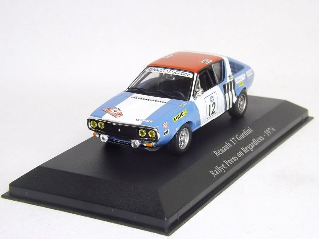 Renault 17 Gordini Rallye Press on Regadless 1974