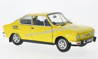 Škoda 110R Coupé 1980 (yellow) 1:18