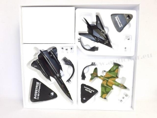 Sada Lietadiel US Air Force Blackbird SR-71, F117-A Nighthawk, Martin B-57 Canberra 1:144