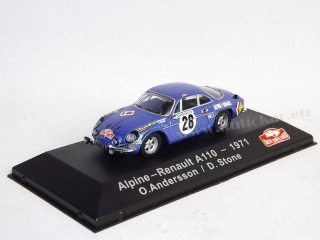 Alpine Renault A110 Andersson/Stone RMC 1971